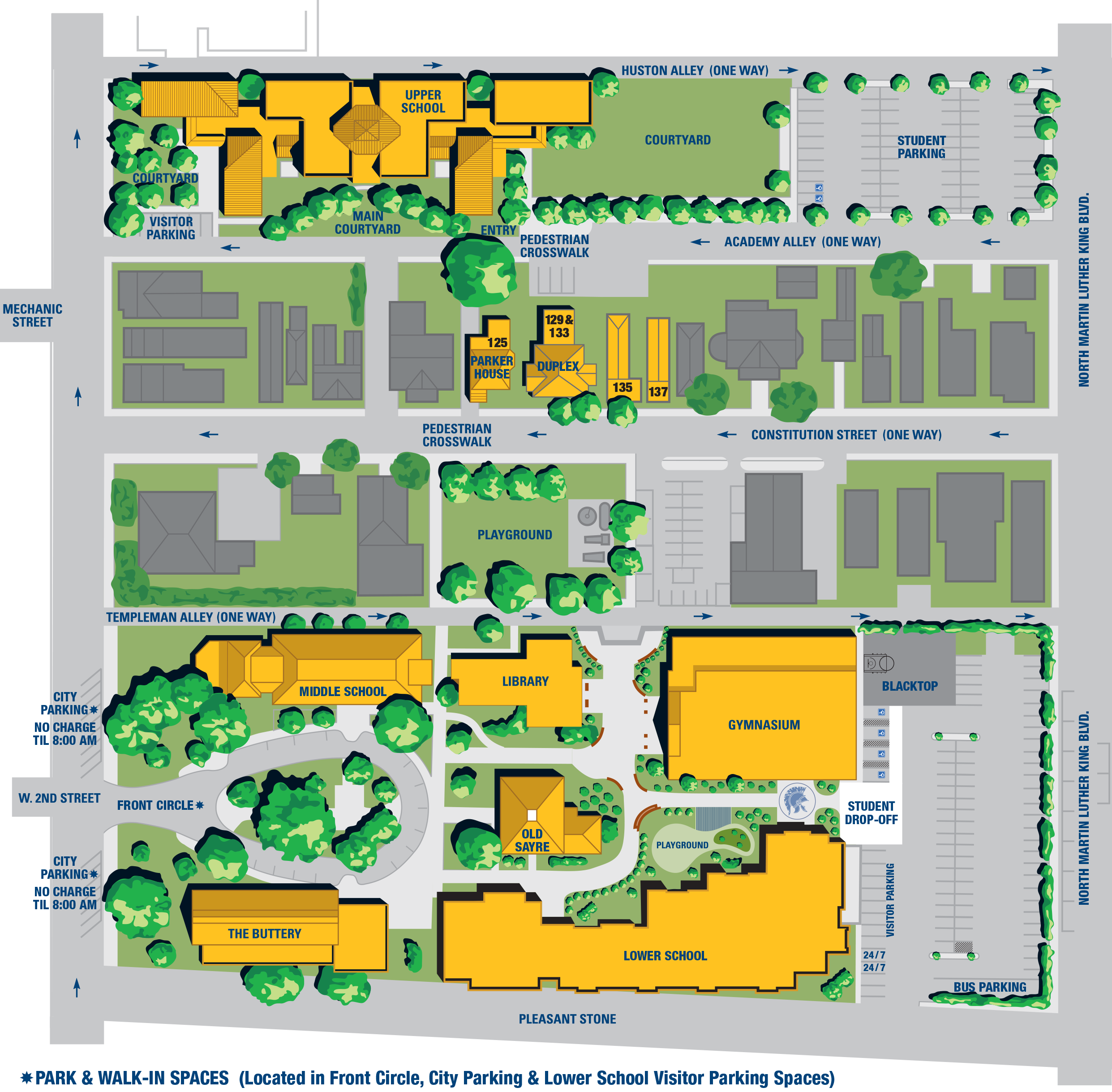 Sayre School Campus Map